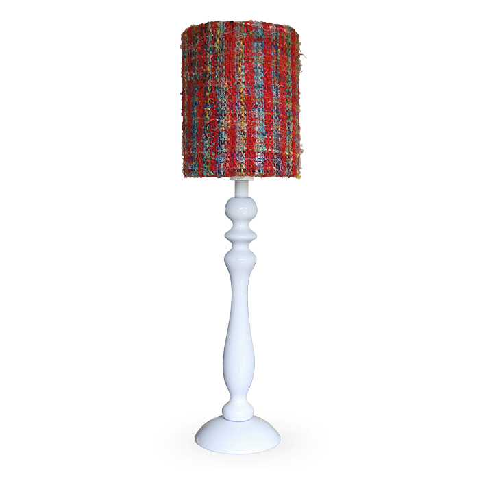 witte houten lampvoet Label25