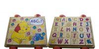 blokkenwagen met alfabet puzzel Label25