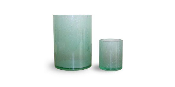 groene glazen waxinelicht houders Label25