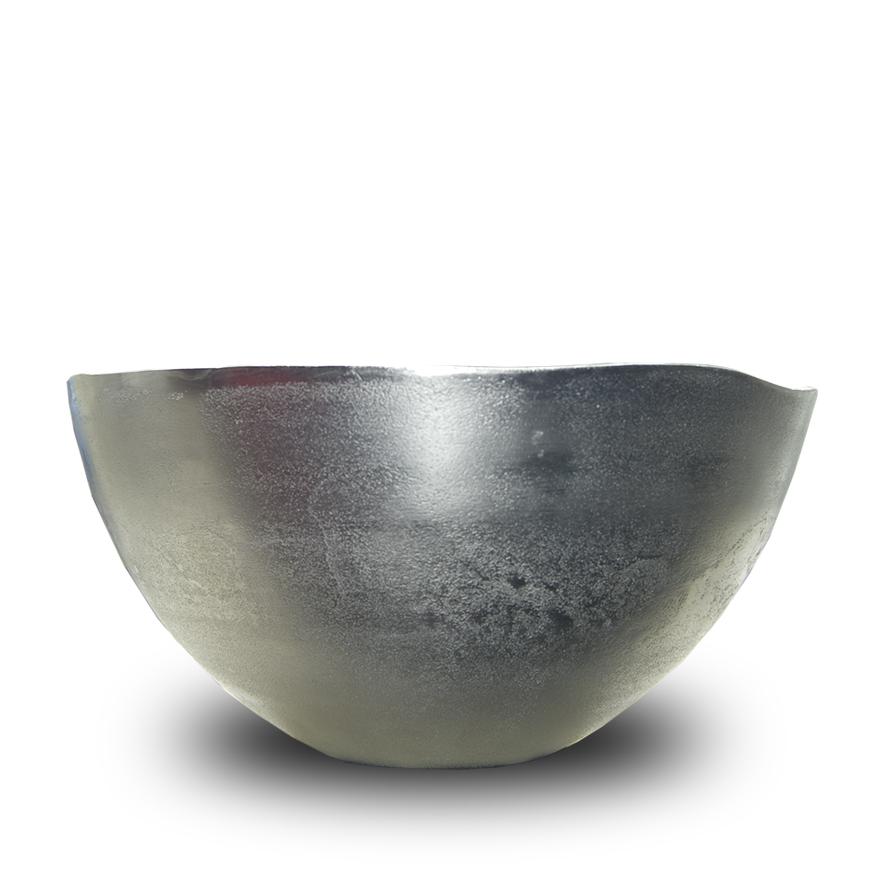 mat zilverkleurige aluminium schaal Label25