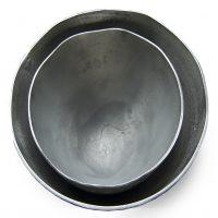 mat zilverkleurige aluminium schaal set Label25