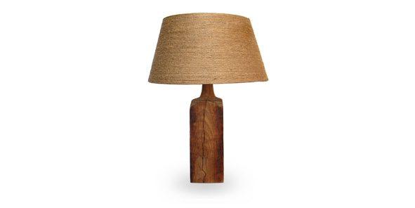 houten lamp met juten kap Label25
