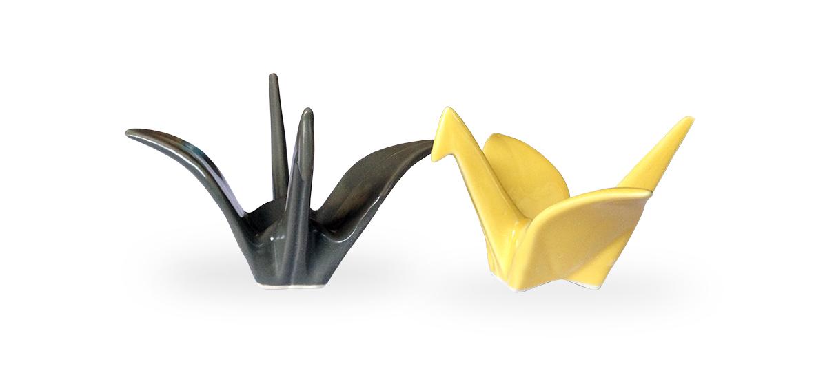 origami kraanvogels keramiek Label25