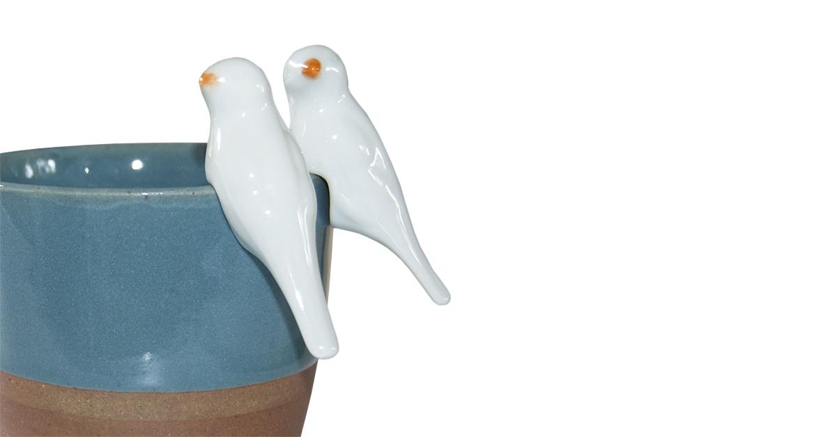 vogeltje keramiek Label25