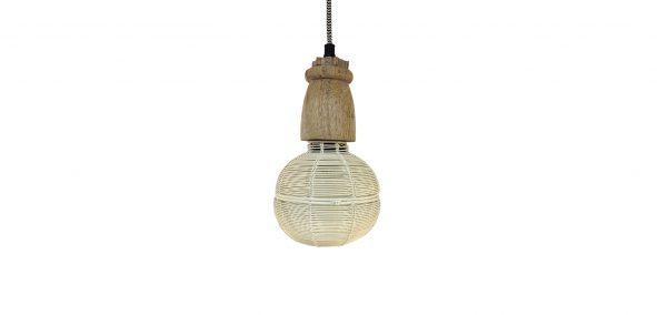 hanglamp hout en metaal Label25