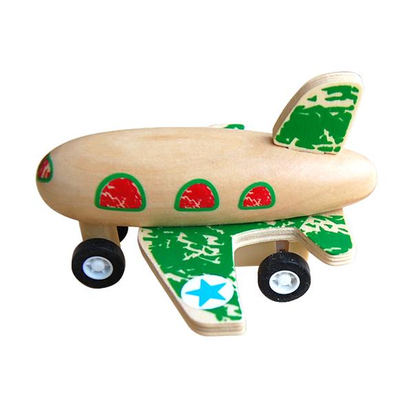 houten vliegtuigje groen Label25