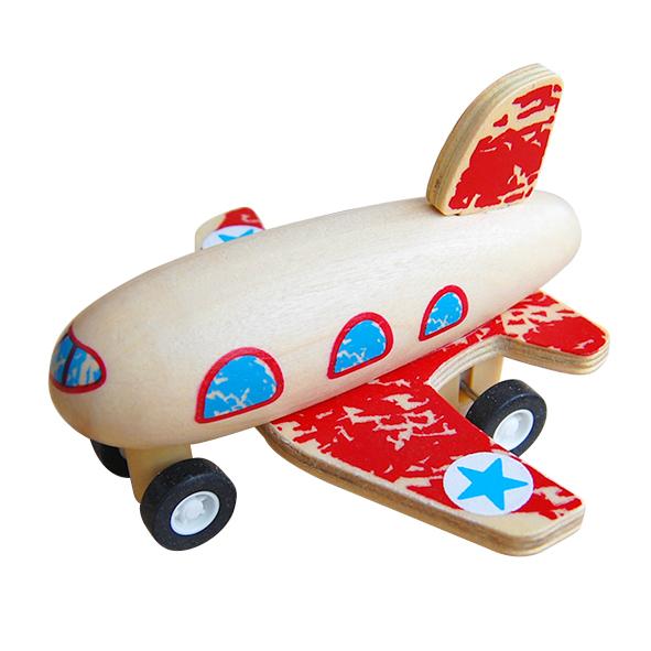 houten vliegtuigje rood Label25