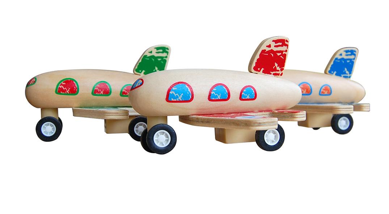 houten vliegtuigje Label25