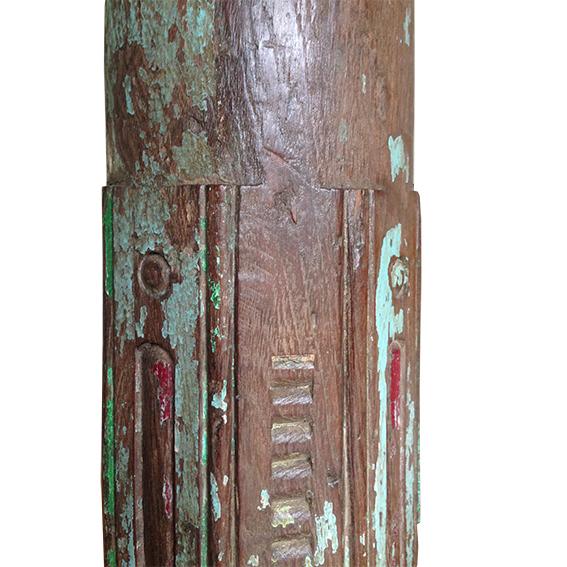 hoge sloophouten kandelaar Label25