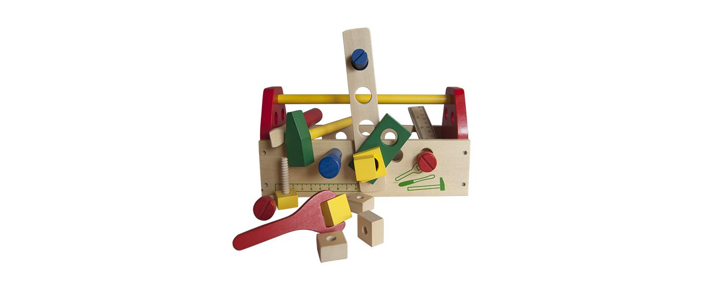 houten gereedschapskist voor kinderen Label25