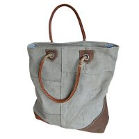 Canvas tas shopper No6 Red of Selected Label25