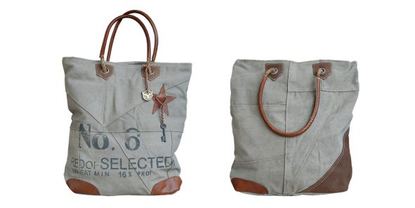 Canvas shopper tas No6 Red of Selected Label25