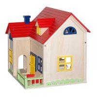 houten poppenhuis met houten meubels Label25