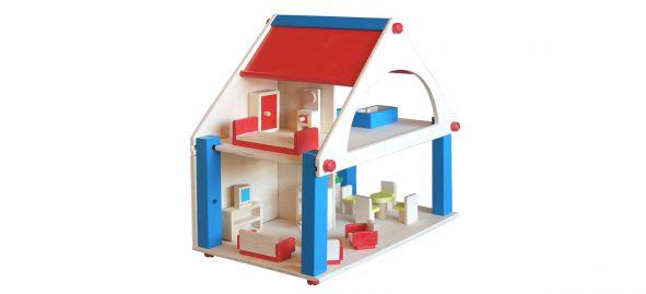 houten poppenhuis met meubels Label25