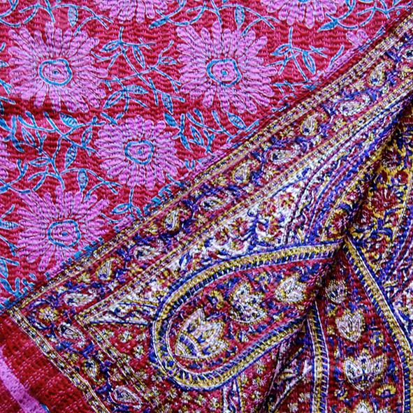 zijden sjaal van sari's Label25 detail
