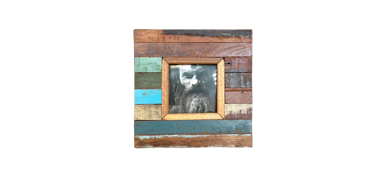 sloophouten fotolijst 20x20 cm label25