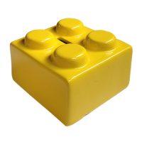 spaarpot geel keramiek label 25