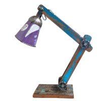 sloophouten lamp met scrapmetal kap Label25