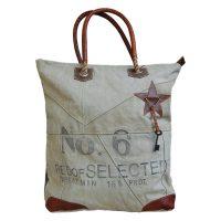 canvas shopper tas No6 Label25