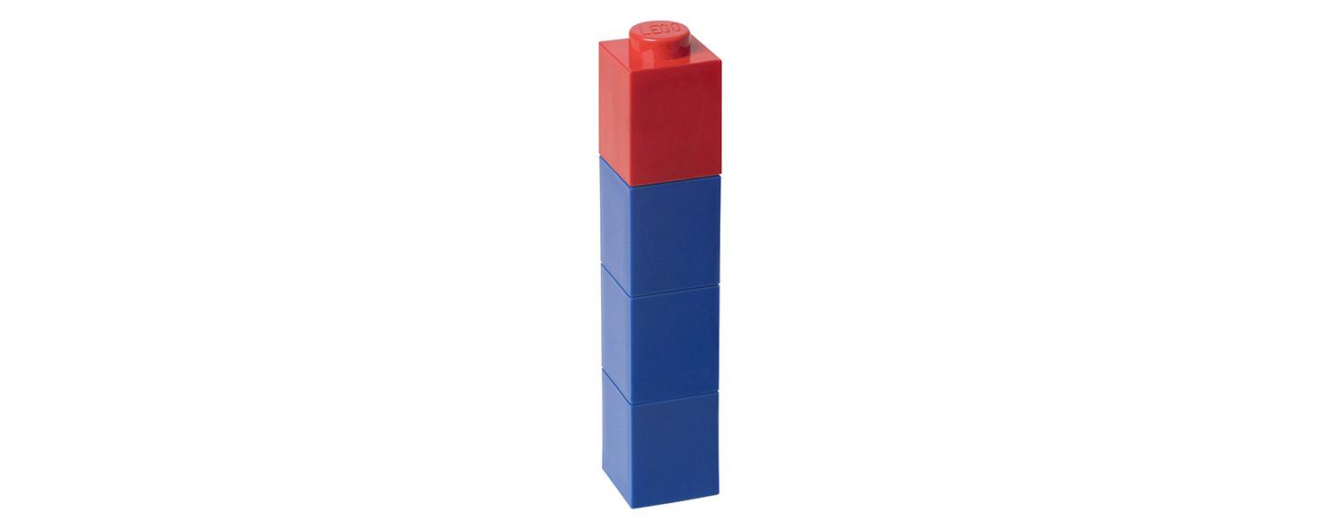 lego drinkbeker blauw met rode dop Label25