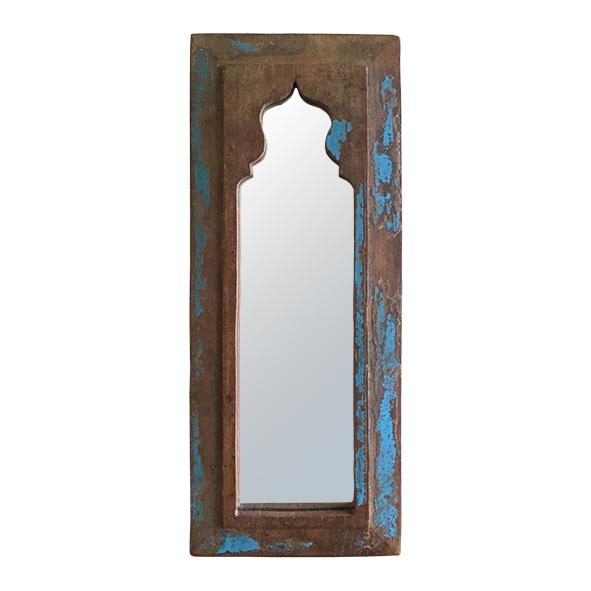 langwerpige spiegel van sloophout label25
