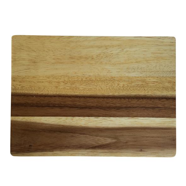 rechthoekige snijplank van acacia hout label25