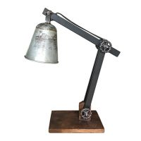 scrap metal bureaulamp industrial design - Label25