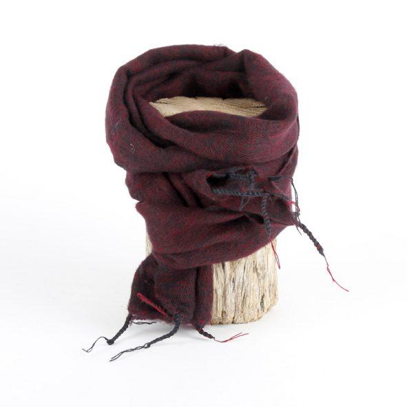 Sjaal bordeauxrood 80 x 190 cm - Label25