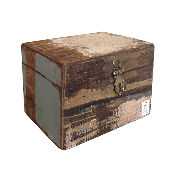 houten opbergbox van sloophout Label25