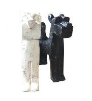 Label25 houten hond zwart