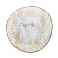 rond eikenhouten boomschors bord - Label25
